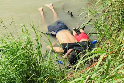 papá bebé ahogados Río Bravo