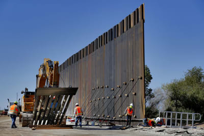 muro fronterizo, muro avanza, Trump avance del muro