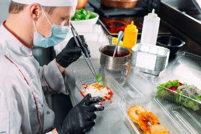 Los Ángeles comida coronavirus COVID-19, comida para llevar