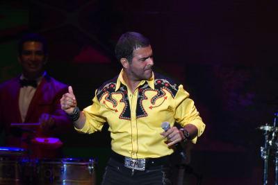Pablo-Montero-and-La-Sonora-Santanera-performs-on-stage-during-Billboard-Latin-Music-Showcase-at-Palacio-de-Los-Deportes