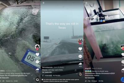 TikTok Tormenta Invernal Texas, videos