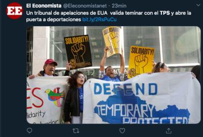fin del TPS deportaciones
