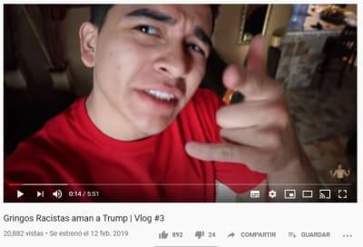 Mexicano se mete a la boca del lobo con fans de Donald Trump