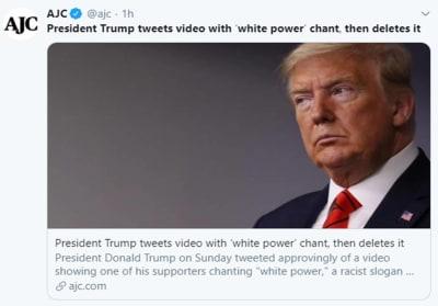 Donald Trump poder blanco