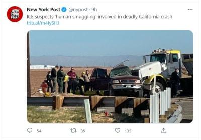 ICE investiga accidente en California