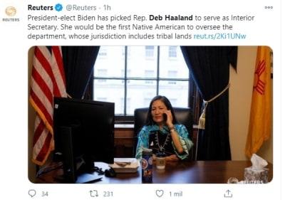 Deb Haaland Departamento Interior Joe Biden 3