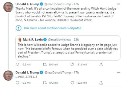 Trump apela corte suprema,. Donald Trump, Pensilvania