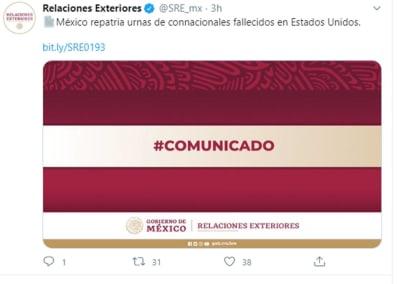 Mexico repatriará muertos coronavirus