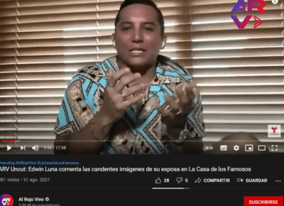 Edwin Luna's attitude to rumors of infidelity
