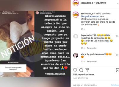 Angélica Rivera (Instagram escándalo)