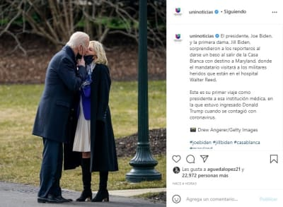 Joe Biden beso esposa Jill Biden