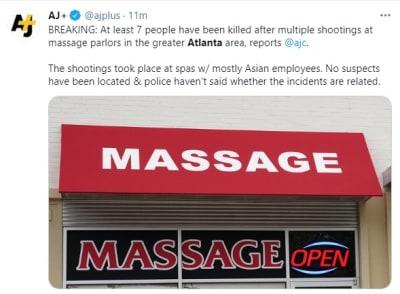 Triple Tiroteo Atlanta, SPA, tiroteos