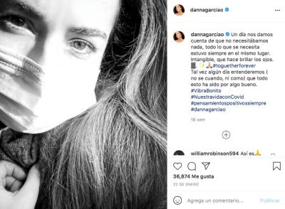 Danna García sufrió bastante por el coronavirus