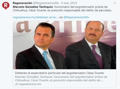 Detienen César Duarte Florida