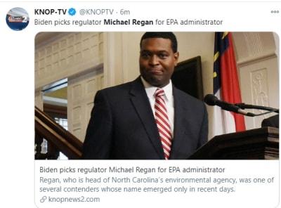 Biden selecciona a Michael Regan para dirigir la Agencia de Protección Ambiental