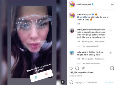 Danna García trauma post COVID