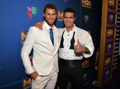 Franco-Noriega-and-Pablo-Montero-attend-Mira-Quien-Baila-Week-5-at-Univision-Studios