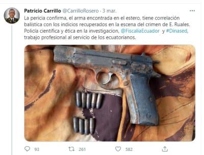 Detienen asesino Efraín Ruales pistola 2