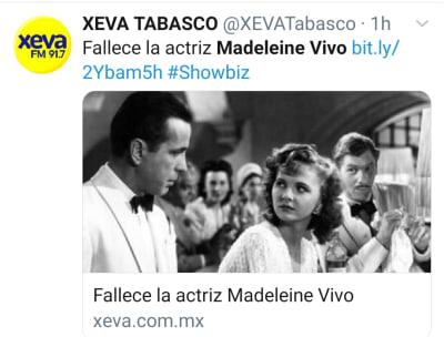 Se cumple presagio y mueren otros dos artistas el mismo día que Mónica Miguel José Guadalupe Gutiérrez Madeleine Vivo