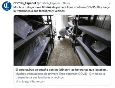 latinos muertes coronavirus California (Twitter)