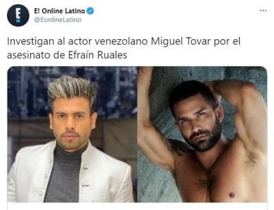 Miguel Tovar sospechoso asesinato Efraín Ruales
