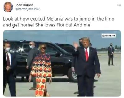 Melania Trump doble, exprimera dama, desplante