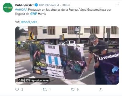 Devuelven avión de Kamala Harris por problema técnico tras su despegue hacia Guatemala