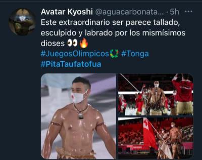 """Los comentarios en redes sociales tras """"la caminata"""" del atleta Pita Taufatofua"""