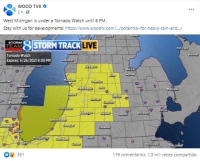 Tornado Watch for Multiple Counties in Indiana, Illinois, and Michigan