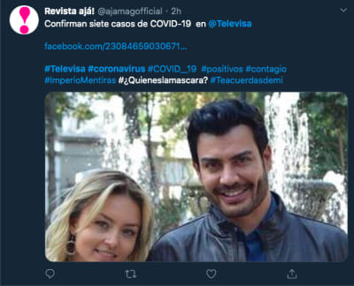 coronavirus en Televisa