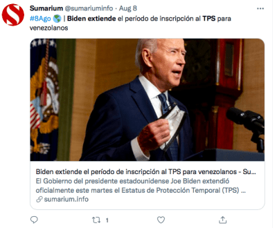 Gobierno Biden TPS
