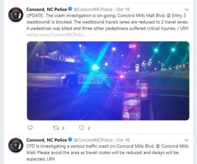 Mujer ebria arrolla cuatro hispanos que reparaban una avenida en NC, muere uno