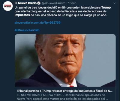impuestos de Trump