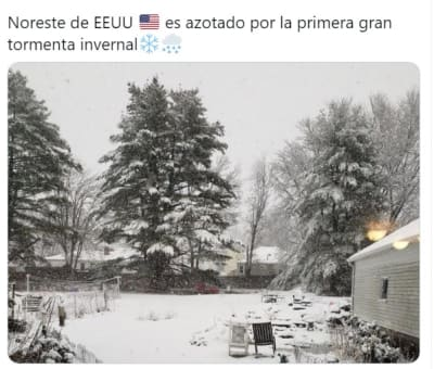 Tormenta Invernal blanca Navidad 2