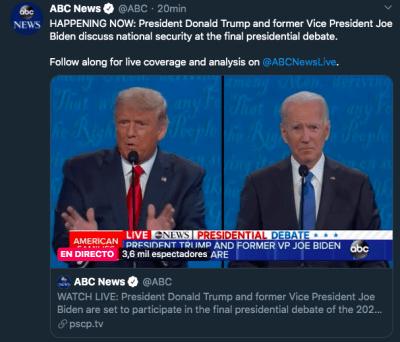 último debate Trump Biden