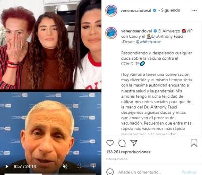 Carolina Veneno Sandoval Dr. Anthony Fauci vacuna coronavirus