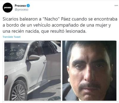 """Matan a """"Nacho"""" Páez, presunto socio del Chapo Guzmán"""