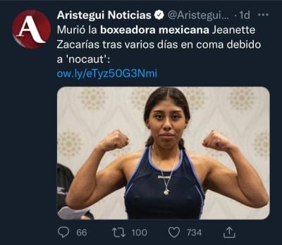 Murió la tarde del 2 de septiembre; Se investiga la muerte de la boxeadora Jeanette Zacarías