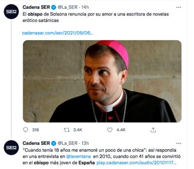 Bishop Spain resigns