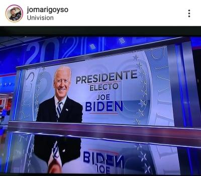Ricky Martin, Raúl de Molina, María Celeste y más famosos reaccionan al triunfo de Joe Biden