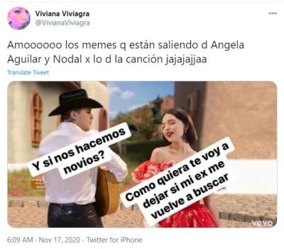 Ángela Aguilar y Christian Nodal son inspiración para memes por su canción Dime cómo quieres Si te llevo rosas