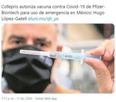 México autoriza vacuna coronavirus 1