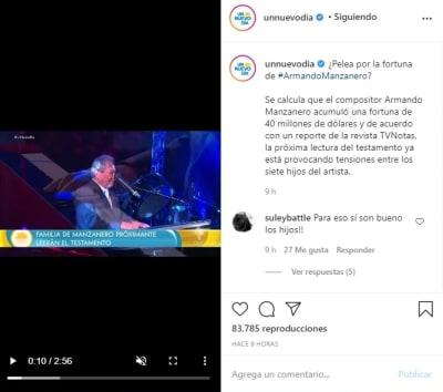 Armando Manzanero pelea herencia 1