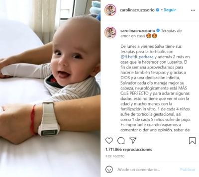 El pequeño cada día mejoras más; Actor Lincoln Palome y su esposa Carolina Cruz revelan el padecimiento de su bebé