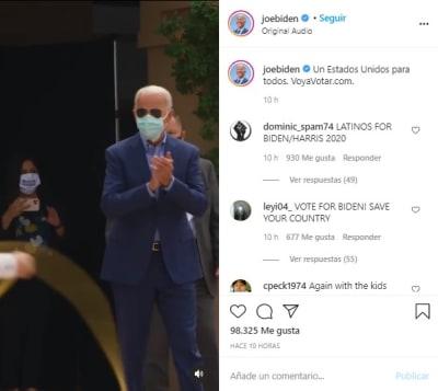 Biden manda mensaje español