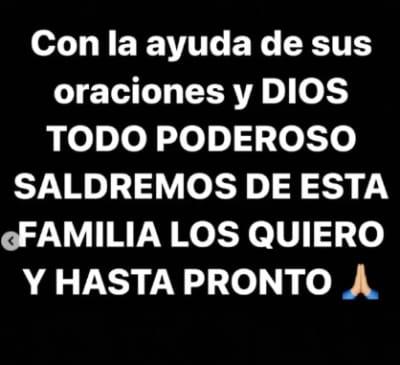 Pide oraciones Larry Hernández contagio COVID
