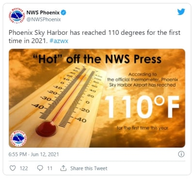 Calor extremo rompe récord en Arizona y emiten alerta para próximos días