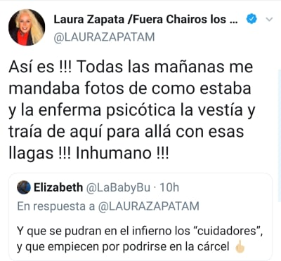 """A sus 103 años, le hacen """"curación de animal"""" a la abuela de Thalía Laura Zapata Doña Eva Mange Márquez"""