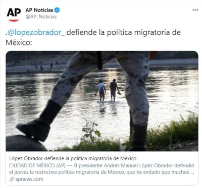 AMLO defiende política migratoria 2