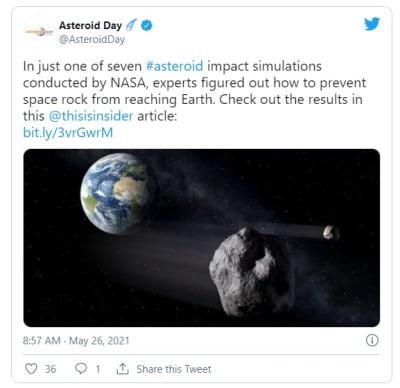 NASA pone fecha y hora del impacto del quinto asteroide más peligroso contra la Tierra